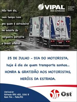 Feliz dia do Motorista