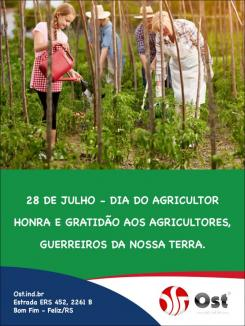 Feliz dia do Agricultor