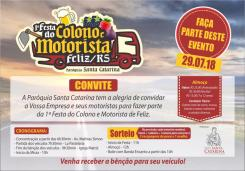 1ª Festa do Colono e Motorista da cidade de Feliz/RS